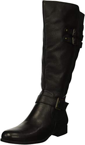 Naturalizer Women's Jessie Wide Calf Knee High Boot, black wc, 8 M US