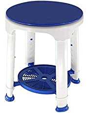 Litty Silla de Ducha, taburetes de Ducha Antideslizantes para Sentarse, Asientos de Ducha escurribles Altura Ajustable se Adapta a la mayoría de los baños