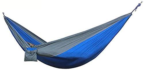 SYLOZ Hamaca de Camping multifunción de Tela de Nylon portátil, Silla de Giro Doble al Aire Libre, con mosquetón