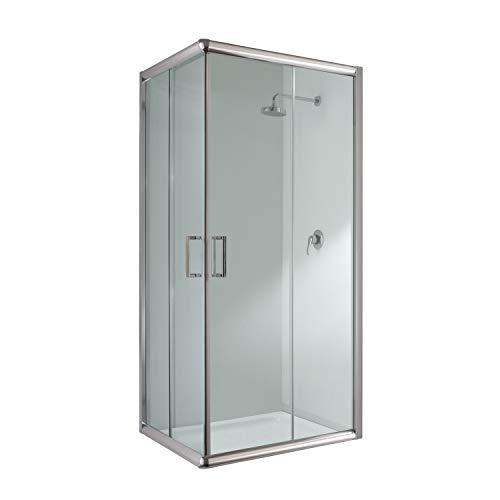 Cabina de ducha rectangular 70 x 120 x 198 H transparente 6 mm