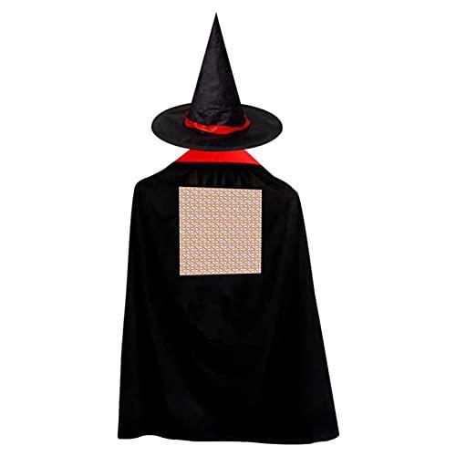 Donuts de maz de caramelo, donas de Halloween, bruja de bruja, disfraz de bruja con sombrero mago capa para nios y nias, disfraz de cosplay, festival, fiesta, estilo estrella