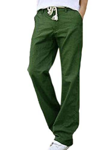 Heren linnen broek mannen Nner Lichtgewicht De Lose Fashion Chic elastische taille broek vrijetijdsbroek zomerbroek met zakken