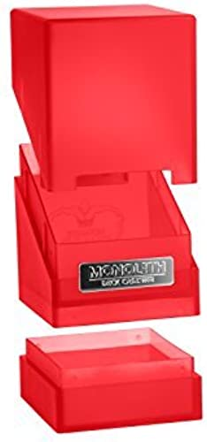 100 voitured Monolith Deck Case, Ruby by Ultimate Guard