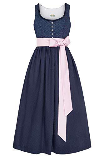 Wenger Austrian Style Damen Trachten-Umstandskleid dunkelblau, 89-BLAU, 36
