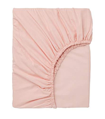 Exotic Cotton Sábana Bajera Ajustable Cama 90 100% Algodón - Bajera con Goma Elástica para Colchón de 90x195x25cm - Suave y sin Pérdida de Color Tras Lavado - Color Rosa