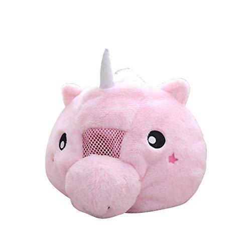 FENICAL Mscara de peluche con cabeza de animal Unicornio rosado Sombrero Cosplay de dibujos animados Apoyos fotogrficos Sombrero