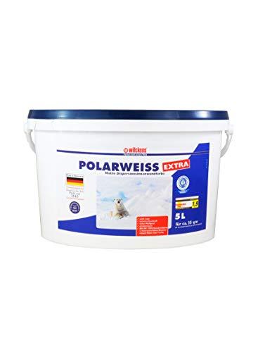 "Innenfarbe Polarweiss Extra 5 Liter\""Blauer Engel\"" Innen Farbe ca. 35 m² weiß matt weiss Wandfarbe"