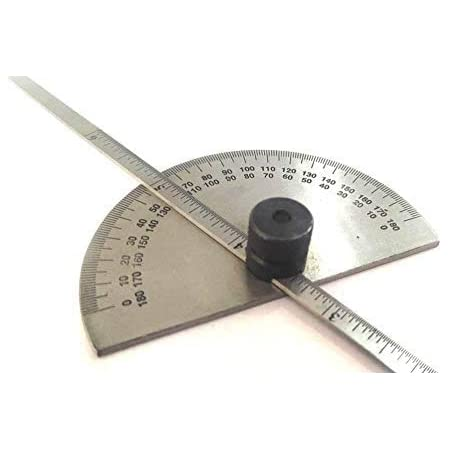 Stainless Steel Protractor 0-180 degrees Machine Tools Degree Protractor cum Depth