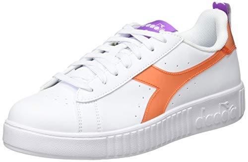 Diadora Game P Step Lucid, Scarpe da Ginnastica Donna, White/Orange, 41 EU