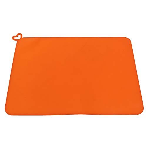 Wosume Soft Dustproof Orange Silicone Mat, Photosensitive 3D Printer Parts for 3D Printer Adsorb Moisture