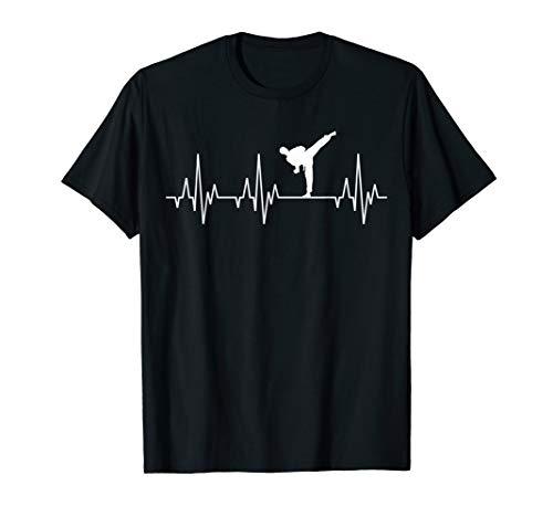 Karate Judo Kampfsport Herzschlag T-Shirt Kung Fu Taekwondo