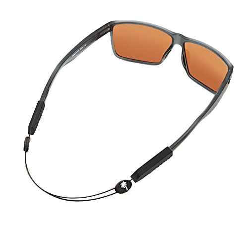Luxe Performance Palm Tree Cable Strap Premium Adjustable No Tail Sunglass Strap and Eyewear Retainer for Your Sunglasses, Eyeglasses, or Prescription Glasses (Palm Tree Black 14)