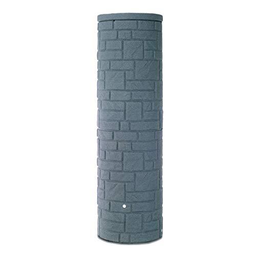 Regentonne rund Regenwassertank Arcado 460 Liter anthrazit aus UV- und witterungsbeständigem Material. Regenfass bzw. Regenwassertonne mit kindersicherem Deckel und hochwertigen Messinganschlüssen