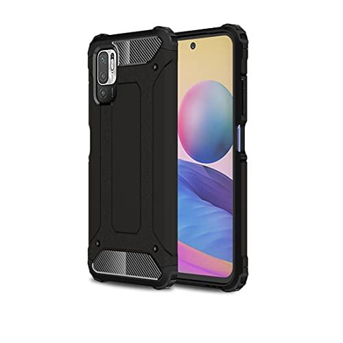XINNI Funda para Xiaomi Redmi Note 10 5G/Poco M3 Pro 5G/4G, TPU + PC Cubierta Protectora Híbrida Amortiguador Calidad Militar Case, Rojo
