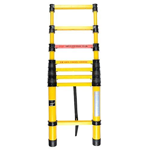 10 pies / 11.5ft / 15 pies / 16 pies de Escalera de extensión de Fibra de Vidrio,no Conductores aislados Heavy Duty escaleras telescópicas,para el Mantenimiento de Energía Eléctrica (Tamaño: 4m /