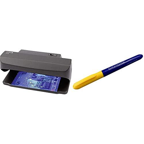Olympia UV 585 Geldscheinprüfer, schwarz & Genie Quicktester Geldscheinprüfstift (unkomplizierter Schutz vor Falschgeld)
