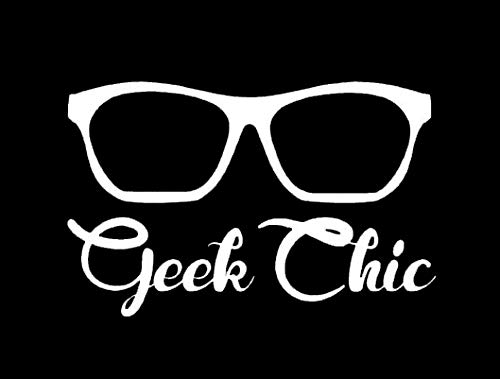 Makarios LLC Geek Chic Glasses Cars Trucks Vans Walls Laptop MKR| White |5.5 x 3.5|MKR584