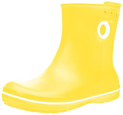 Crocs Jaunt Shorty Boot, Botas de Agua para Mujer, Amarillo (Lemon), 34/35 EU
