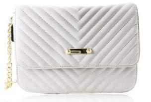 JC Unique Quilted Chain Bag-White, Borsa a Spalla Donna, Bianco, Medium