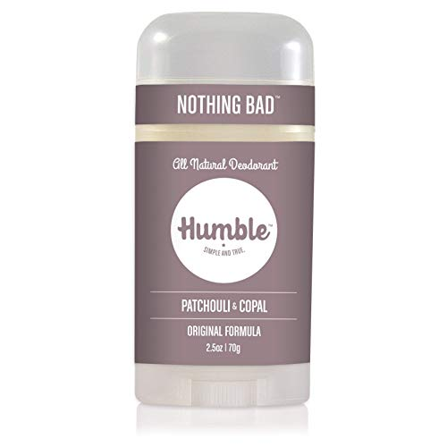 Humble Brands All Natural Aluminum Free Deodorant Stick for Women and Men, Lasts All Day, Safe, and Certified Cruelty Free, Patchouli and Copal, Pack of 1