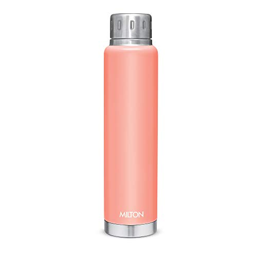 Milton Elfin 750 Thermosteel 24 Hours Hot and Cold Water Bottle, 750 ml, Peach