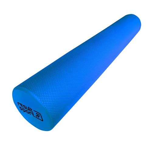 ResultSport EVA Foam Roller - Blue - 90x15cm (36'x6') A3 Exercise Poster