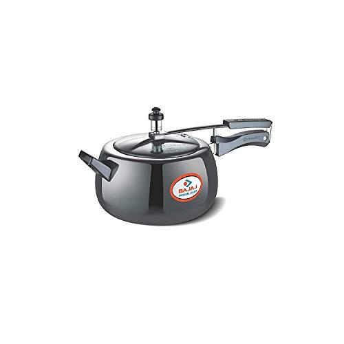 Bajaj PCX 63H, 3 LTR, Aluminium Handi Pressure Cooker (Black, ISI Certified)