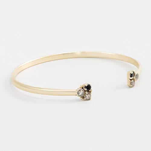 Mes-bijoux.fr armband, open, Tina labradoriet, grijs