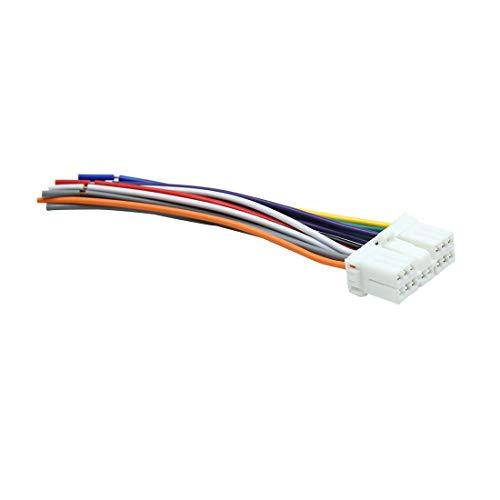 DyniLao DC 12V 14 Pin Coche Macho DVD Radio Mazo de cables Adaptador Conector de cable para Subaru