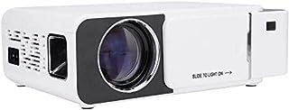 ZLSANVD HD LED Projector Portable HD LED Multi-Language Projector Wi-Fi Projector Home Theatre Projector White with Abunda...
