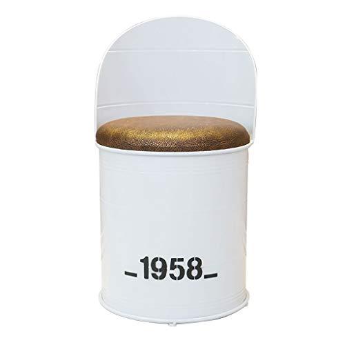 Chaise Industrielle de Tabouret de Fer d'art de Vent pour la Combinaison de Table et de Sofa de Tambour d'huile de café de café LI Jing Shop (Couleur : Armchair)