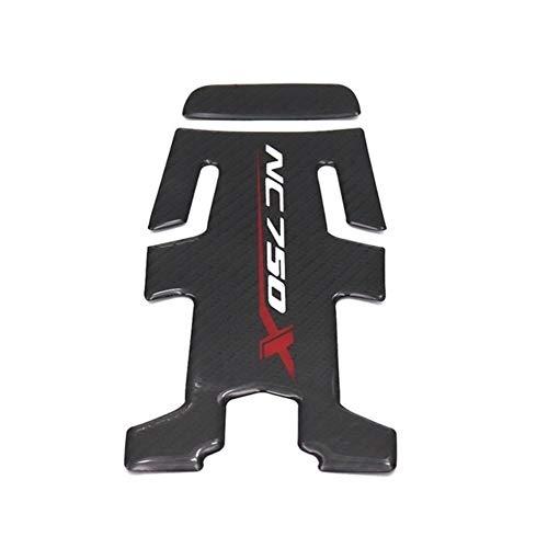 Motorrad-Zubehör Carbon-Faser-Öl-Brenngas-Behälter-Auflage-Tankpad-Abziehbild-Aufkleber for Honda NC750X NC 750X NC700 NC700X (Color : NC750)