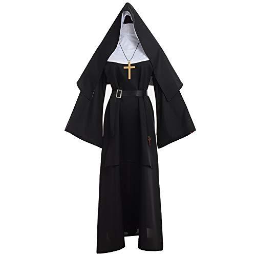 GRACEART The Nun Deluxe Adulto Disfraz de Monja para Mujer (L)
