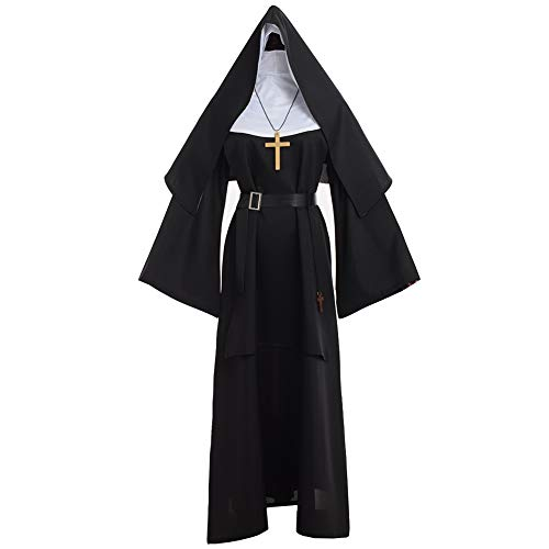 GRACEART The Nun Costume da Suora Vestito da Suora (2XL)