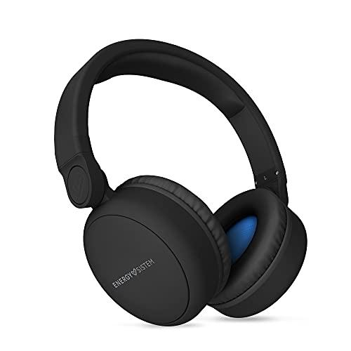 Energy Sistem Headphones Bluetooth FH 300 Auriculares (Almohadillas extracómodas Over-Ear 180º Moldeable, Entrada de Audio)-Negro
