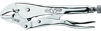 "Irwin Vise Grip 0502L3 10"" Curved Jaw Locking Pliers With Wire Cutter"