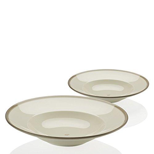 Arzberg - Barefoot Living - Teller tief/Pastateller/Suppenteller - grau - 2 er Set - Ø 30 cm - Til Schweiger