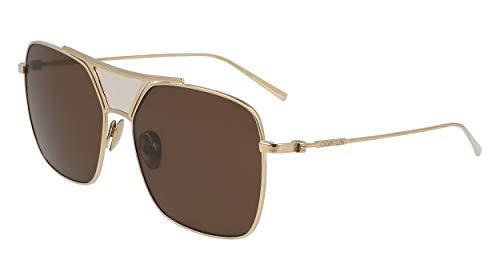 CALVIN KLEIN Sunglasses CK20100S 717 Gold Square Women 59x16x135