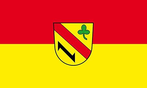 Unbekannt magFlags Tisch-Fahne/Tisch-Flagge: Kuppenheim 15x25cm inkl. Tisch-Ständer