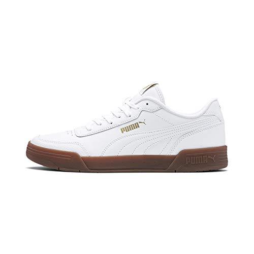 Puma Unisex-Erwachsene Caracal Sneaker, Weiß White Team Gold, 45 EU