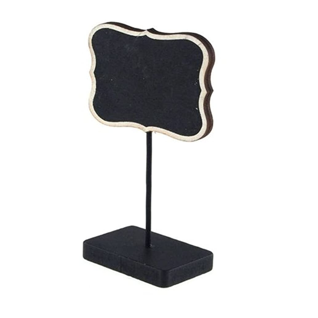 Homeford Firefly Imports Chalkboard Table Sign, Bracket w/Natural Edge, 5-Inch, 5