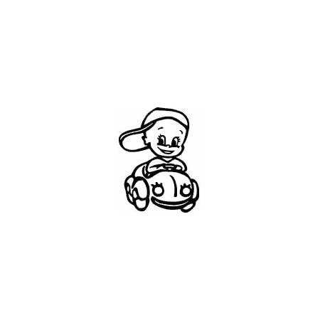 Hoffis Premium Babyaufkleber Mit Name Wunschtext Baby Kinder Autoaufkleber Motiv 1281 16 Cm Farbe Und Schriftart Wählbar Baby