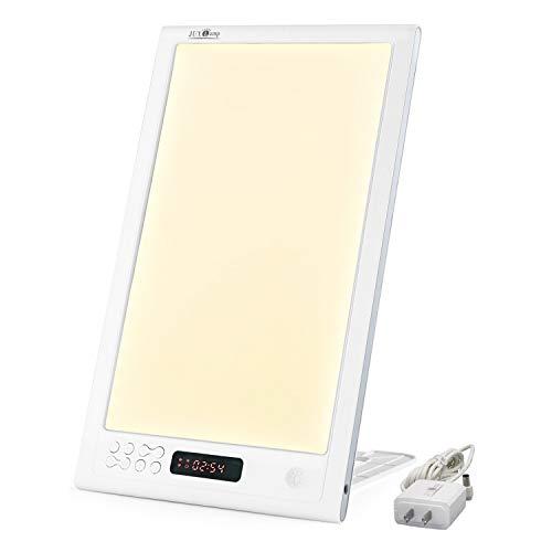 JUXLamp 2021 New Light Therapy Biotic Sun-Beam Alarm Energetic Lamp with Sunrise Sunset Smart Sun-Beam 12000 Lux Happy Wake up lamp SAD-DP-02