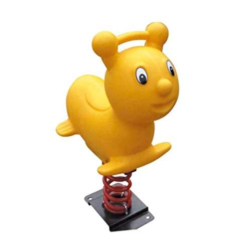 Best Buy! CJVJKN Children's Spring Rocking Horse 39.3×15.7×27.5inch,Yellow,Ride-On Rocking Horse L...
