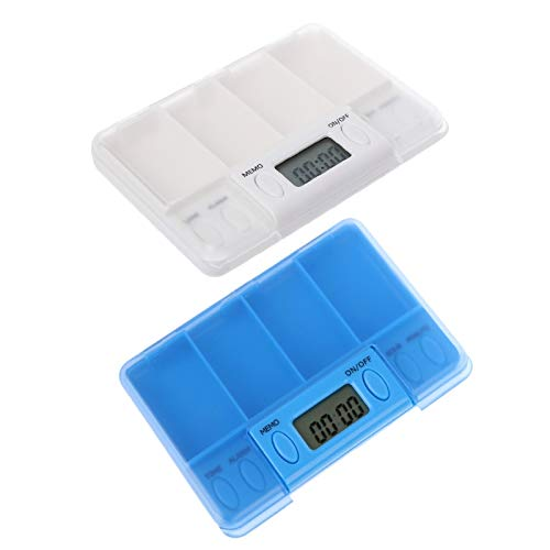 ESF Pill Dispenser, Electronic Timing Reminder Medicine Boxes Alarm Timer Pills Organizer Pill Drug Container, Excellent Pill Storage Case