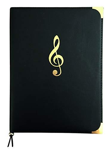 Chormappe Notenmappe RH SINGSTAR, passend für DIN A4 und DIN A3 quer, Kunstleder, schwarz, 2 Transparentfächer, Gummikordel, geprägter Violinschlüssel, 4 Metallecken Notenmappen 12,90 €