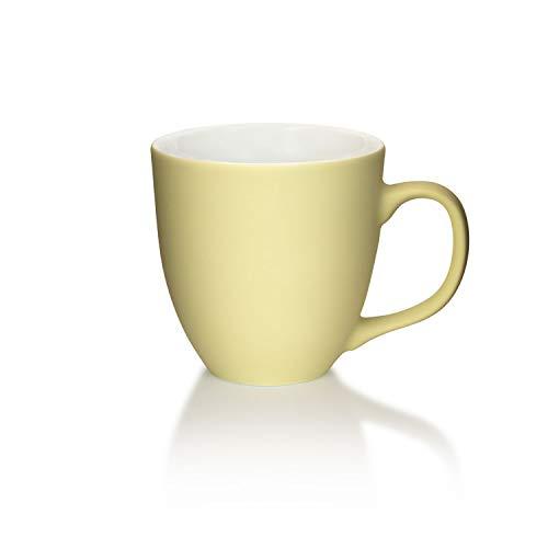 Mahlwerck XXL Jumbotasse, Große Porzellan-Kaffeetasse mit Matter Soft-Touch Oberfläche, Soft-Beige, 450ml