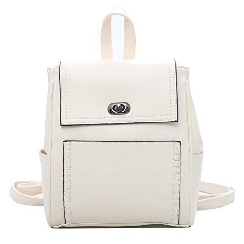 Old street Mochilas Mujer Damen Outdoor einfacher Reißverschluss Kontrast Rucksack Reisetasche Mochilas, Weiá (weiß), Einheitsgröße