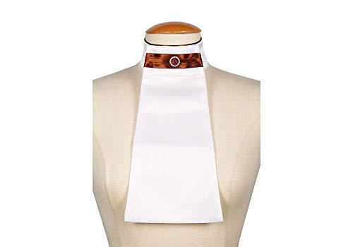 Harry's Horse dames Plastron Horizon wit klittenband vaste strassbroche