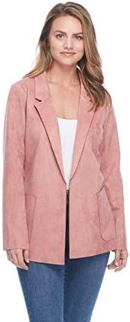 FDJ French Dressing Jean Faux Boyfriend Jacket New arrival Sm Regular store Rose Suede